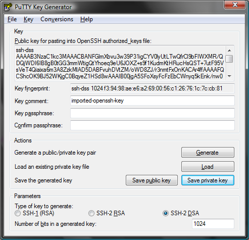 Converting openssh private key to putty private key